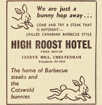1960s newspaper ad for high roost hotel