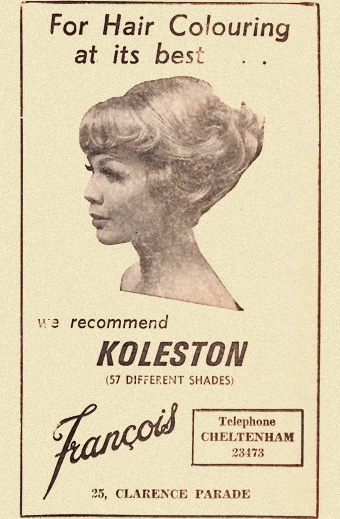 1960s newspaper ad for hair salon