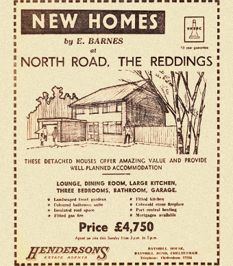 1960s newspaper ad for new homes