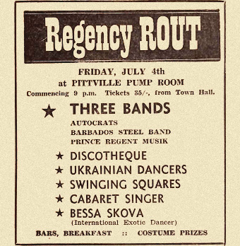 1960s newspaper ad for gig