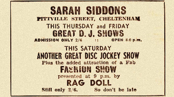 1960s newspaper ad for dj gig