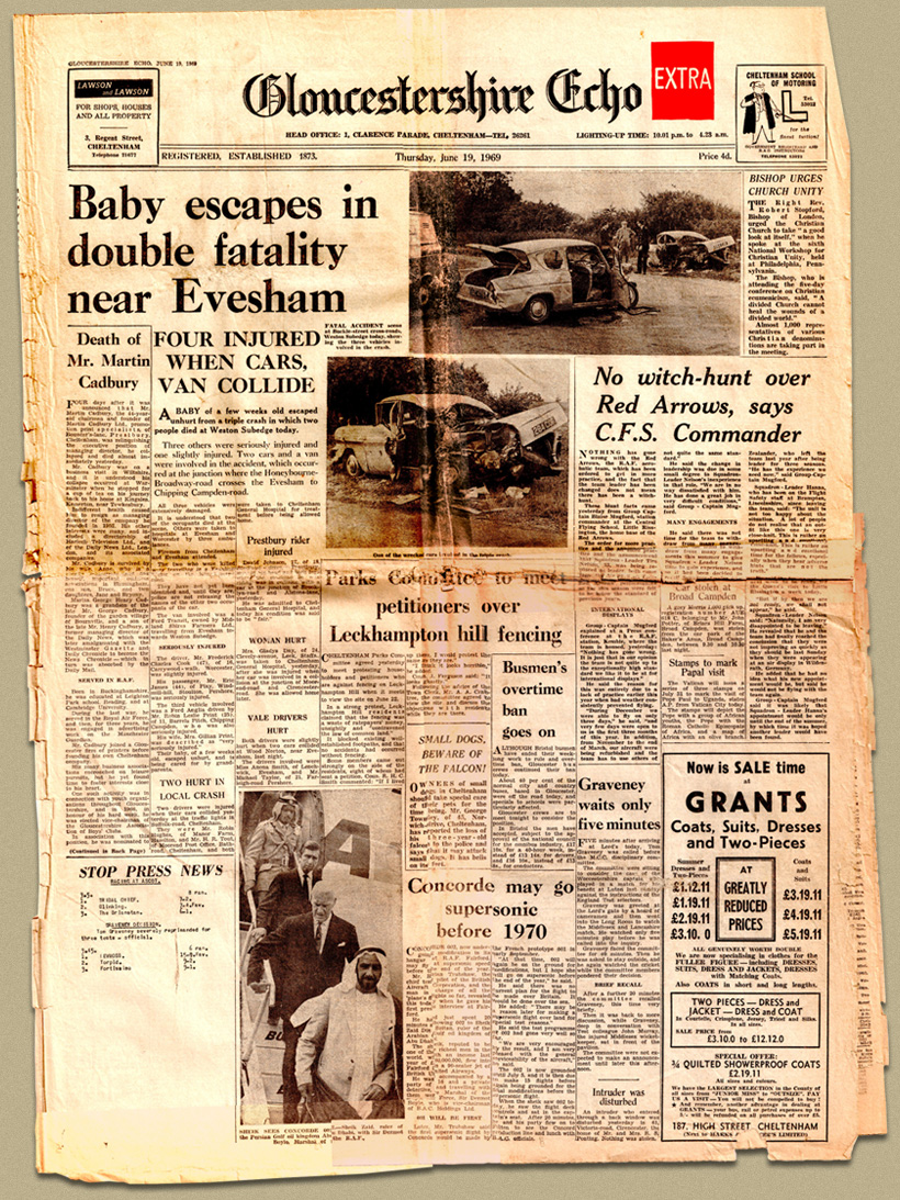 front cover of 1960s newspaper